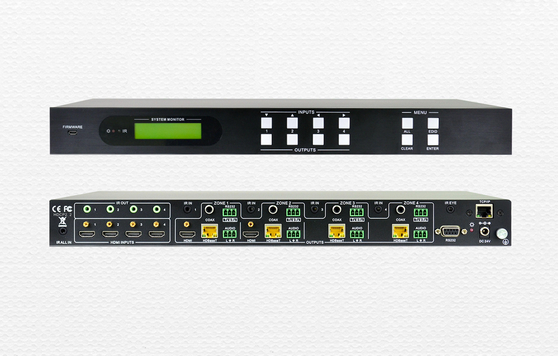 非插卡4K高清HDBaseT矩陣4K44HBT和4K88HBT